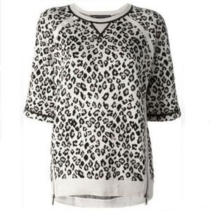 Marc Jacobs Zippered Cheetah Sweater L